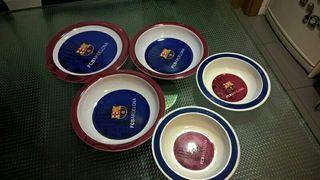 set 5 platos del Barça