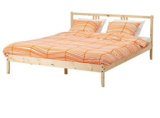 Estructura cama y somier madera pino
