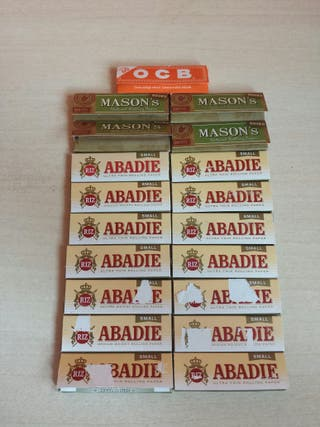 """19 Librillos de Papel de liar 14 Marca """"Abadie"""""""
