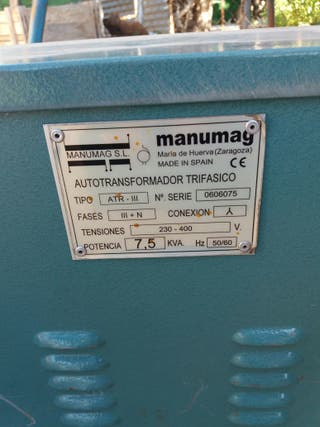 Vendo transformador trifasico 220 A 380 7'5 KVA