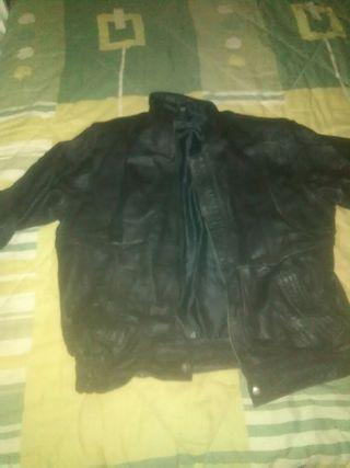 chaqueta de cuero de hombre