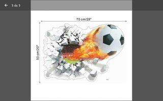 Adesivo balón de fútbol