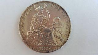 Moneda plata peru' 1916