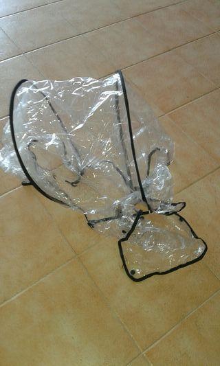 plástico lluvia para carro niño