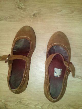 Zapatos ante numero 36 color marron