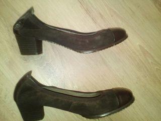 Zapatos marron chocolate 37 piel