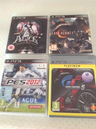 Cuatro videojuegos