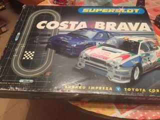 Scalextric circuito Costa brava Año 1998 con dos coches