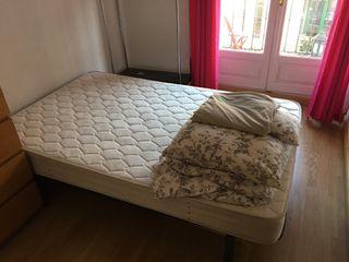 Cama. Somier y colchón 120x180