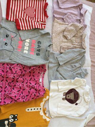 8 camisitas bebé