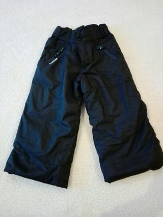 Pantalon Ski negro niño talla 4