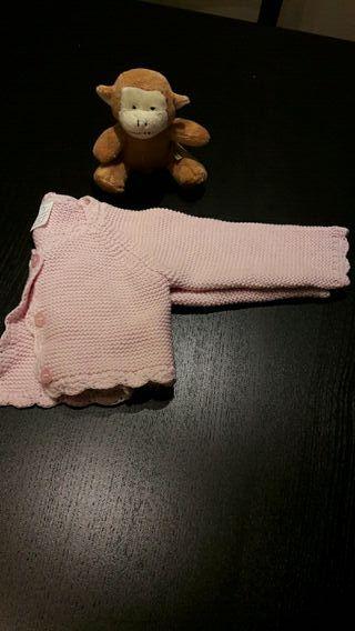 25. Chaqueta algodón 0-3 meses rosa
