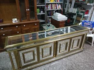 Mueble dorado con espejos precio negociable!
