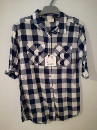 Camisa de cuadros niña ZARA GIRLS de segunda mano por 5 € en