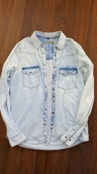 camisa vaquera pull and bear