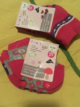 4 pares calcetines bebé niña