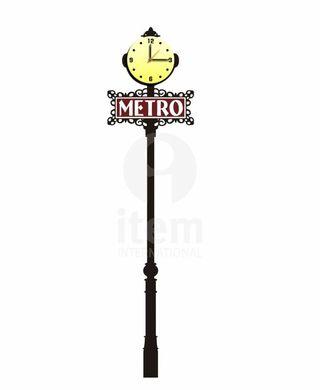 Reloj farola metro