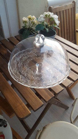 pastelero de cristal
