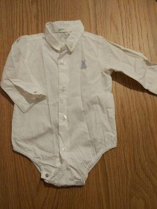 Body / camisa blanca bebe 3 meses