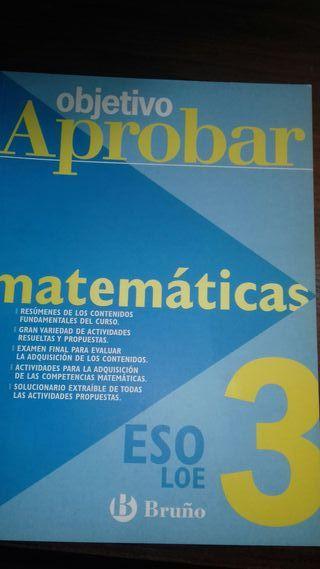 libro. Objetivo Aprobar :matemáticas. 3ESO