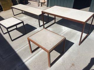 Mesa acero y hormigon