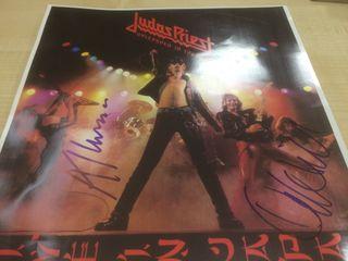Judas priest firmado/autografo