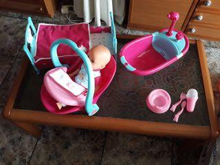 muneca set para bebe con muchos accesorios