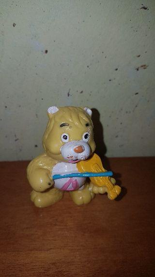 figura pvc goma oso amoroso amarillo años 80 90