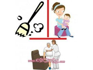 cuidado de personas mayores y limpieza del hogar
