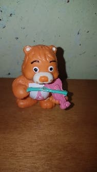 figura pvc goma oso amoroso naranja años 80 90