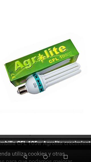 bombilla AGROLITE CFL 105 w cultivo interior grow