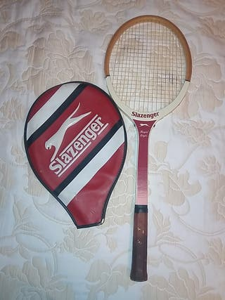 Raqueta tenis madera