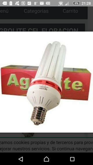 Bombilla AGROLITE CFL 200 w cultiv interior grow