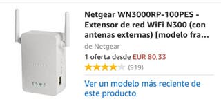 Repetidor señal WiFi Netgear WN3000RP