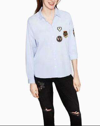 Camisa parches Zara