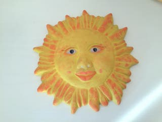 Sol decoración pared