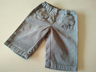 Pantalon pana bebe de 6 meses Petit Bateau