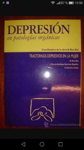 lote 5 libros depresión en patologías orgánicas