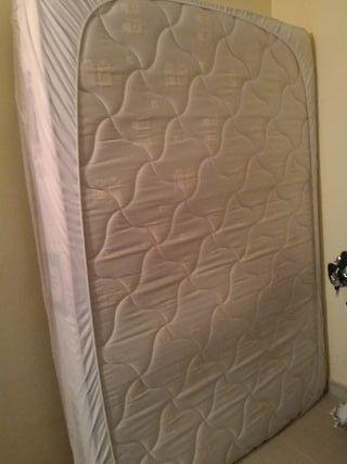 Cama 135x190 somier y colchón muelle y látex