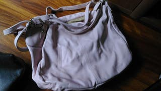 bolso rosa claro