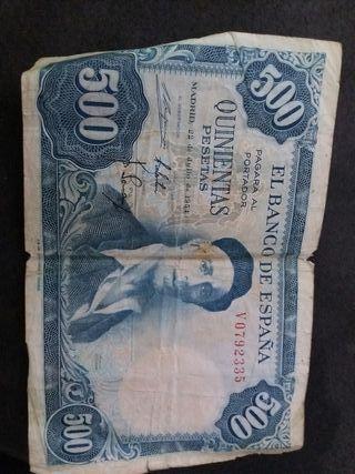 billete 500 pesetas de 22 julio de 1954