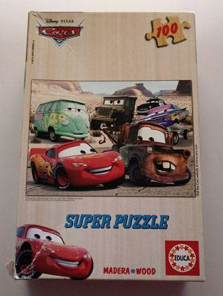 Puzzle 100 piezas Cars MADERA