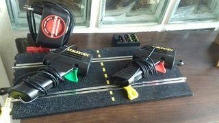 Pista de conexiones mandos y adaptador scalextric