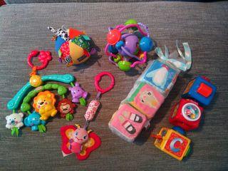 Lote juguetes sensoriales bebé seminuevos