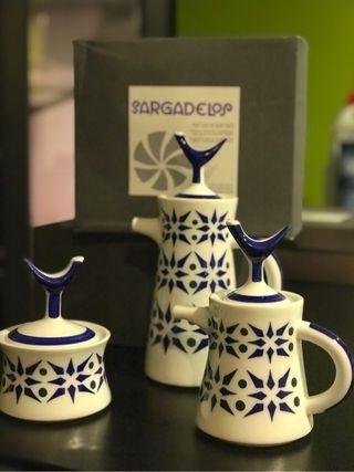 Jarras té o café y azucarero Sargadelos