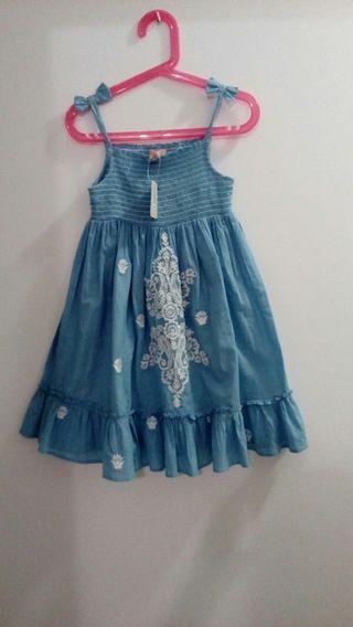 vestido de tirante talla 7 a 8