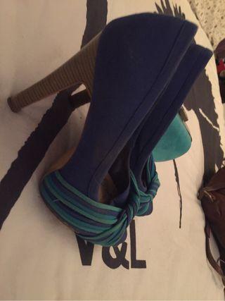 c35cfb21 € Y Aguamarina Zapatos Por Azul Verde De Mano 11 Segunda En 5UxzBwOq