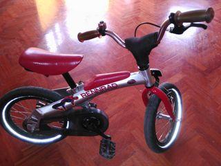 Bicicleta infantil Iniciación, con y sin pedales