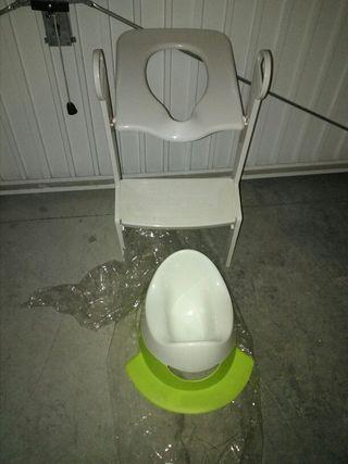 Orinal y adaptador wc niño