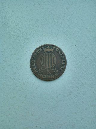 Moneda 3 cuar 1837